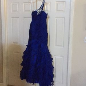 Royal Blue Jovani mermaid custom stoning pageant